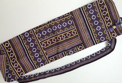 Sac tapis de yoga, jaune & violet, gamme éthnique