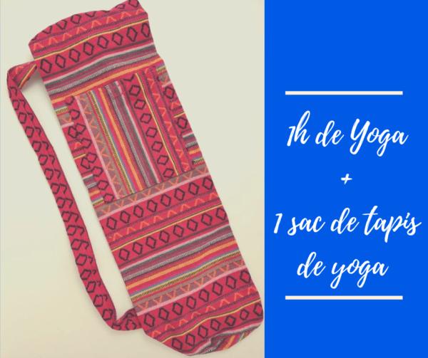 1h yoga + sac de tapis